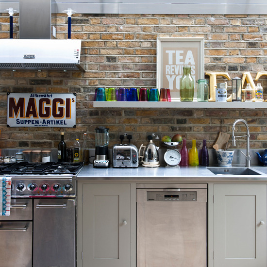 Industriele Keuken Kopen : bakstenen interieur