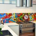 pop art keuken achterwand
