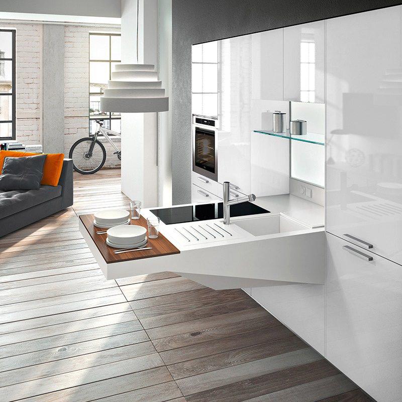 Witte Keuken Wit Werkblad: Van een rode hoogglans keuken naar wit met ...