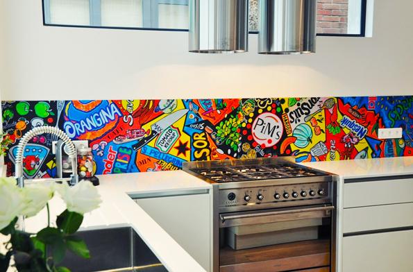 Keuken Achterwand Goedkoop : Pop art keuken achterwand