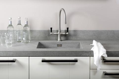 Keuken Met Betonblad : Beton look & feel ~ aanrechtbladen